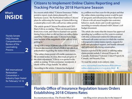 Vol. 8 Issue 1: Hurricane Season 2018, FL Senate FAQs, & RIA International Restoration Convention