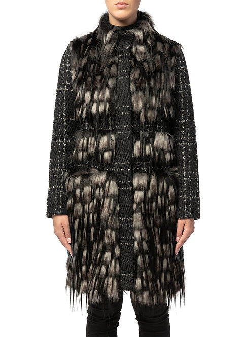 Cappotto in pelliccia ecologica (Faux fur coat)