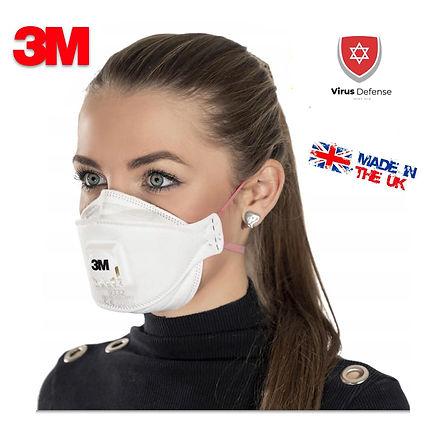FFP3 3M מסכת נשמיות מסכה נשימה