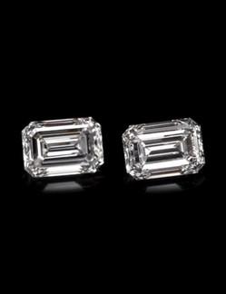 emerald cut diamond pair of diamonds.jpe