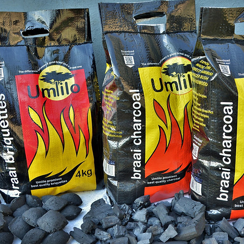 Bulk Buy: 300 (3 Pallets) bags Charcoal or Briquettes Delivery & VAT incl