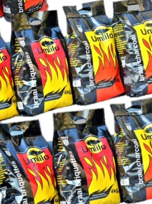 50 Bag Deal: 50 x UMLILO Charcoal or Briquettes Delivery & VAT incl