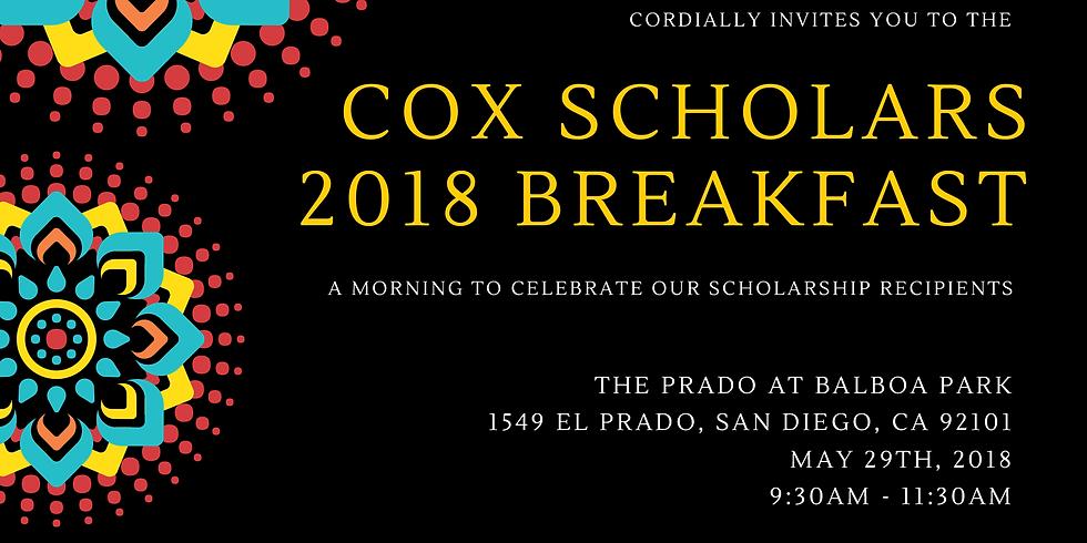 Cox Scholars 2018 Breakfast