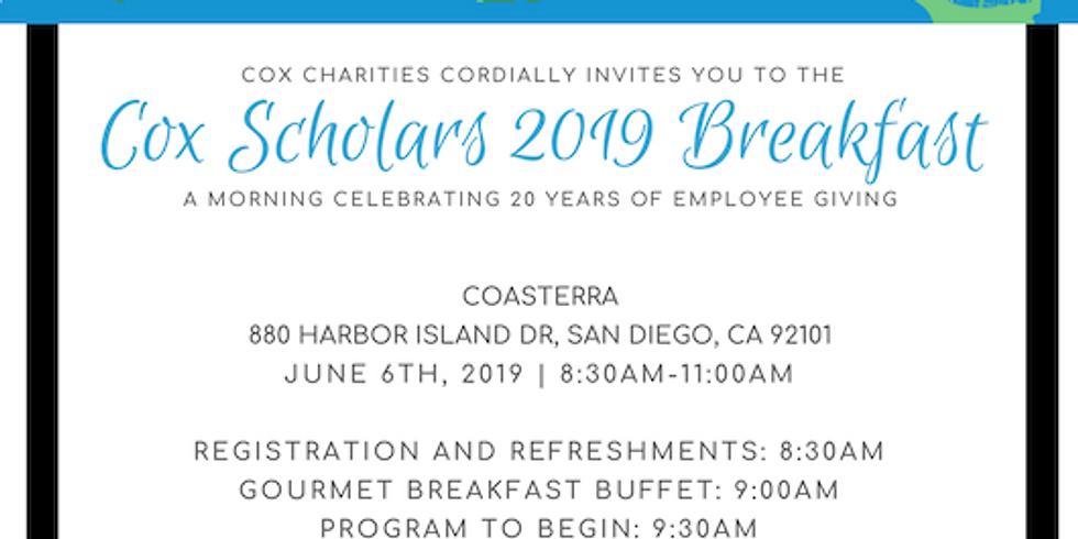 Cox Scholars 2019 Breakfast! (1)