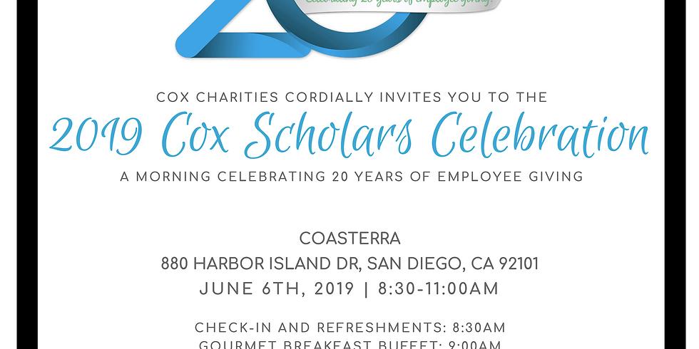 2019 Cox Scholars Celebration