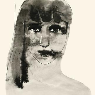 ★ Autoportrait - lavis, encre de chine 3