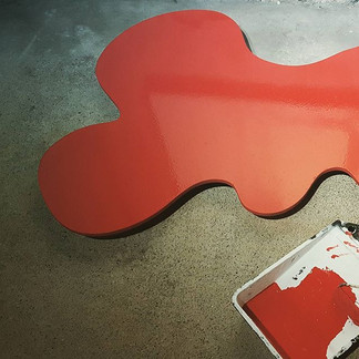 ☆ Pétrole Rouge 125x125cm_#aureliedubois