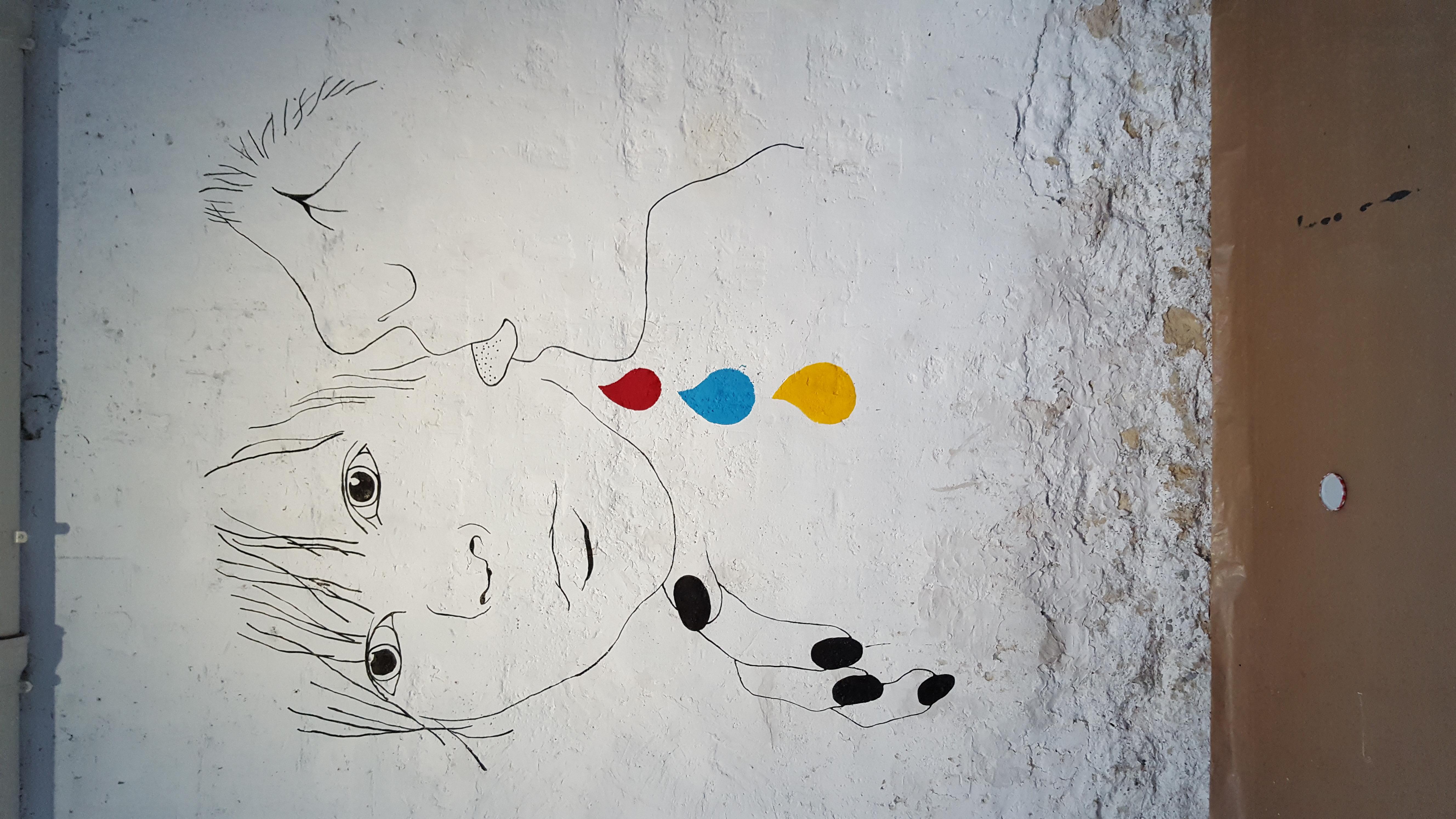 Le goût des Autres - wall drawing