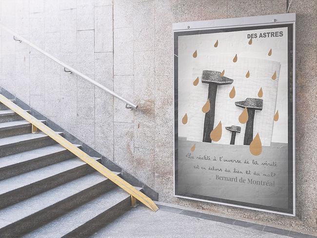 Aurelie Dubois affiche dans le métro de Montréal