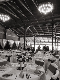 Slayden hayshed setup black and white