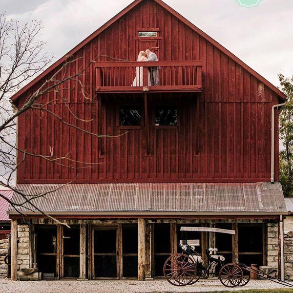 barn and carriage beneath