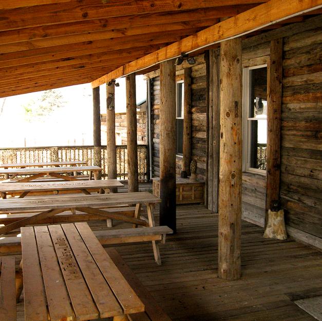 White Tales Lodge Porch