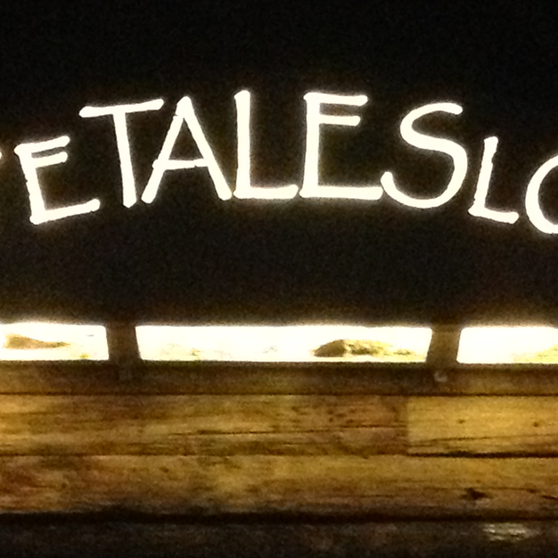 White Tales Lodge night sign