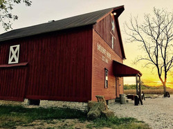Mt hope barn sunset