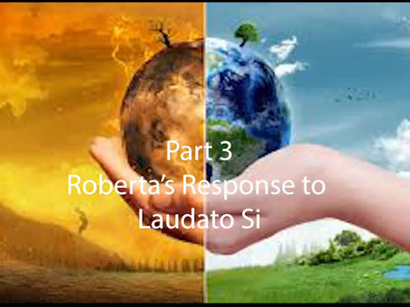 Part 3 Roberta's Response to Laudato Si