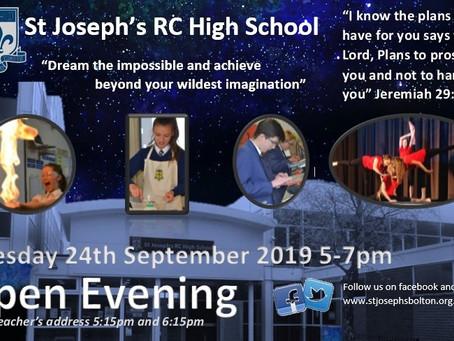 St. Joseph's Open Evening