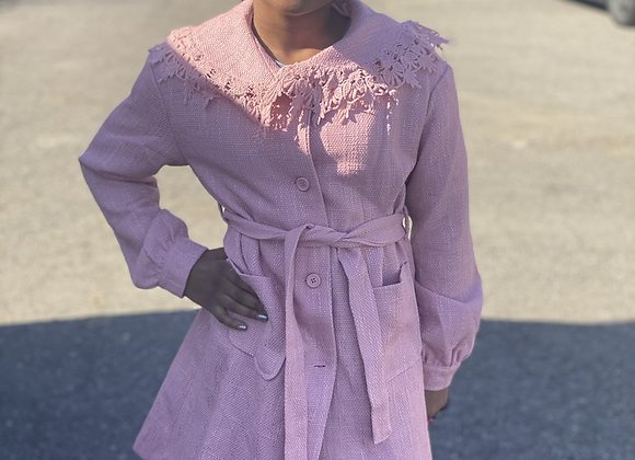 Royal pink trench coat