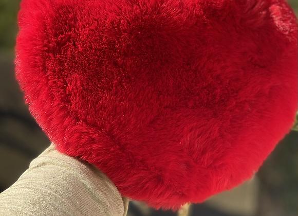 Heart of gold fluffy  purse