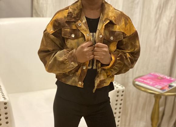 Tie dye Cord Jacket