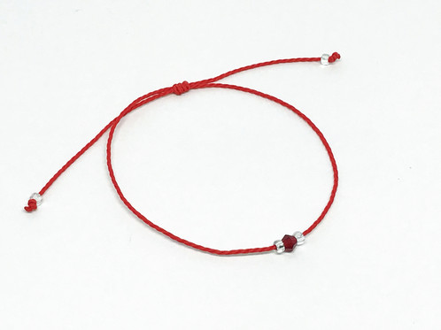 vegan red string activism v charm jewelry shirt shop web necklace