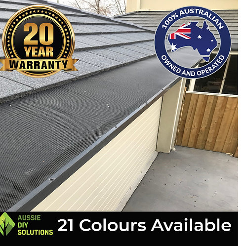 10M Tiled Roof - DIY Gutter Guard Kit - 500mm wide,