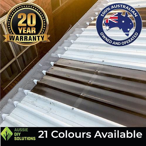 10M Trimdek Roof Pro Gutter Guard DIY Kit - 250mm wide,