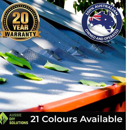 50M Corrugated Roof Pro Gutter Guard DIY Kit - 250mm wide,