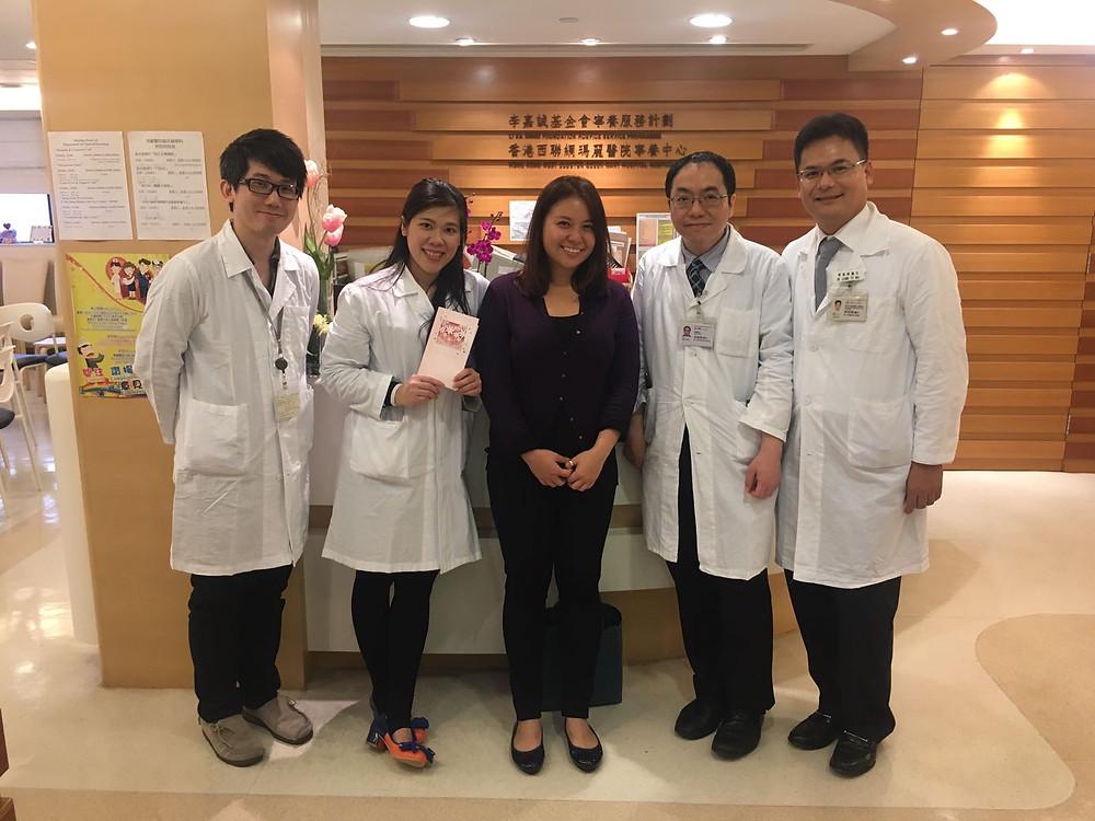 Mr. Chan , Ms. Meiling Ho, Ms. Carol Cheung , 梁道偉醫生, Dr. Yuen