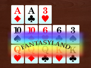 Going for Fantasyland in Open Face Chinese Poker