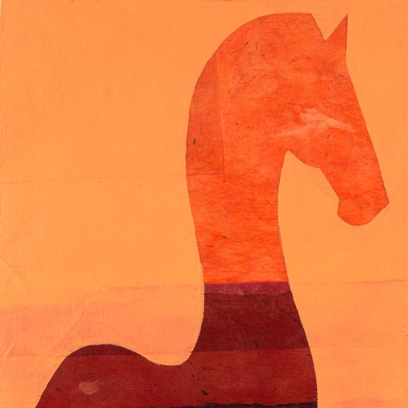 horse in piaffe in apricot