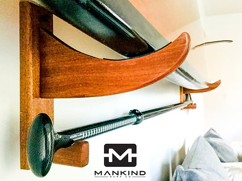 Mahogany SUP Wall Rack - Stand Up Paddle Board Wall Rack