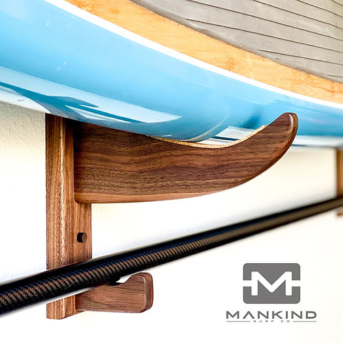 SUP Wall Rack - Stand Up Paddle Board Wall Rack - Walnut