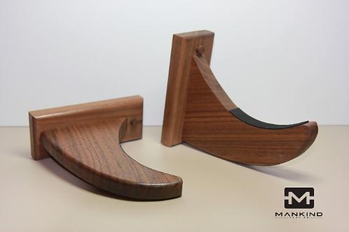 Walnut: Handmade Surf board wall display racks + Eco-friendly finish