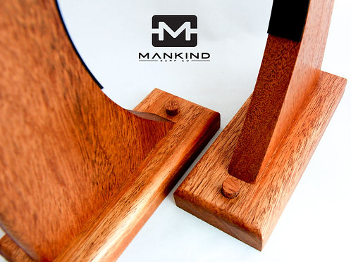 "Mahogany - ""Laid back"" single surfboard wall rack"