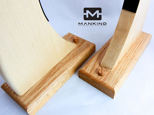 "Maple - ""Laid back"" single surfboard wall rack"
