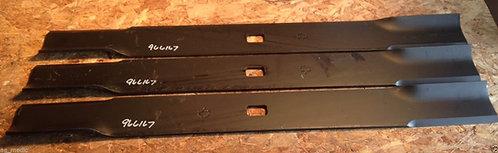 "Set of 3 Blades for Buhler Farm King 84"" Cut Finish Mower code 966167"