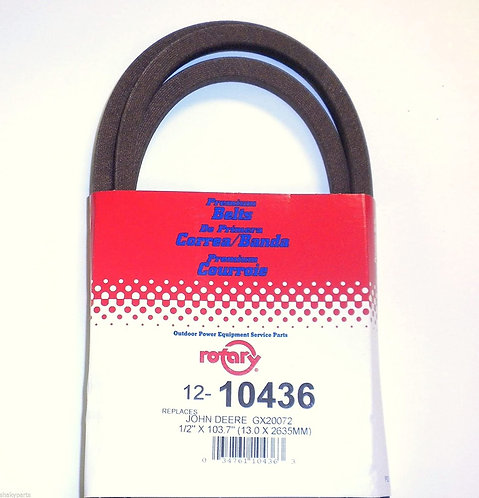 10436 Rotary Drive Belt Compatible With John Deere GX20072 & GY20570 supplier_id