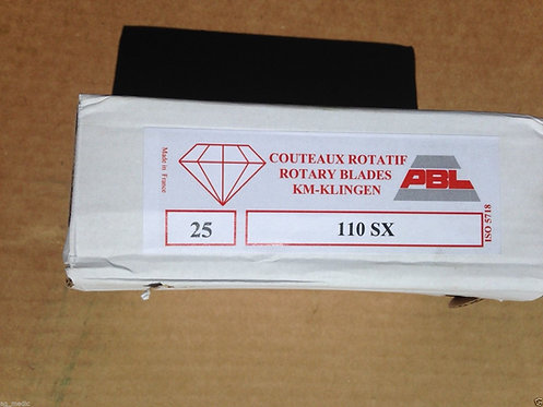 Galfre, Tonutti Disc Mower Blades 110mm X 47mm 21mm Hole, One Box Each LH/RH