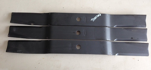 "Caroni 71"" Finish Mower Blades, Set of 3 Code 71001000 Fits TC710 Models"