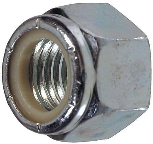 (10) M12-1.75 Or M12 Coarse Thread Nylon Insert Lock/Stop Nut Zinc Plated 8.8