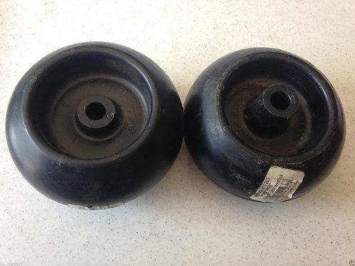 "Plastic Deck Wheel, Cub Cadet 734-3058B, 1/2"" Bore, 5"" H x 2.75"" W Set of two"