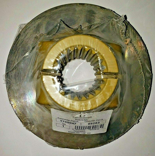 1-3/8 X 21 Spline Clutch Hub for 140mm 2 Friction Disc Slip Clutch Cide 1705047