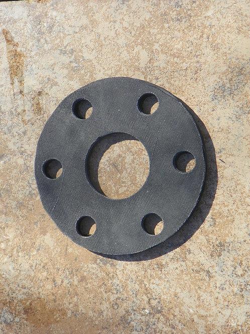 "Universal Fit Flex Coupler Pad, 6"" Diameter, 3/8"" (0.406"") Thick, Six 5/8"" Holes"