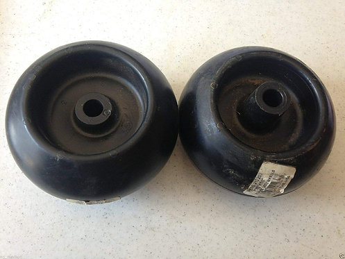 "Plastic Deck Wheel, Cub Cadet 734-3058B, 1/2"" Bore, 5"" H x 2.75"" W Set of Two"
