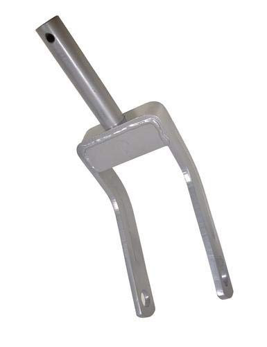 """International/WAC Rotary Cutter Tailwhel Forged Fork, 1-1/2"""" Post, 1' Axle"""