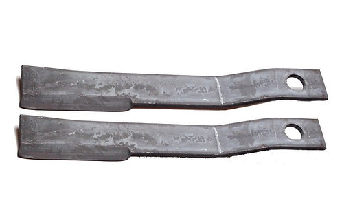 "WildKat Attachments Rotary Cutter Blades Set of 2, 24-5/8"" Long, 3"" Wide X 1/2"""