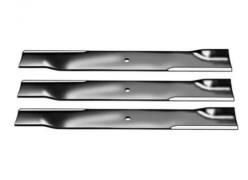 """Set of 3 High Lift Blades for 52"""" Cut Exmark 18""""X 5/8"""" Center Hole Code 103-1578"""