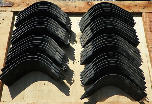 """Agric Replacement Tiller Tines Code 04503303 & 04503400 Full Set 65"""" Machine"""