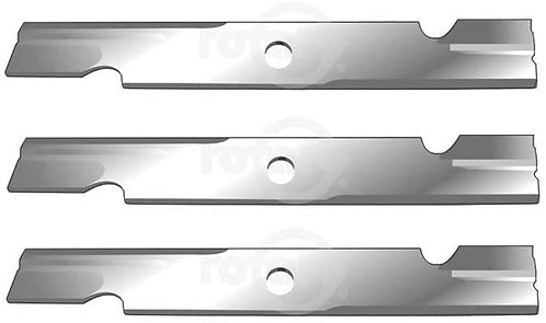 3 Pack Notched High-Lift Lawn Mower Blades Fits Toro 109-6873-03