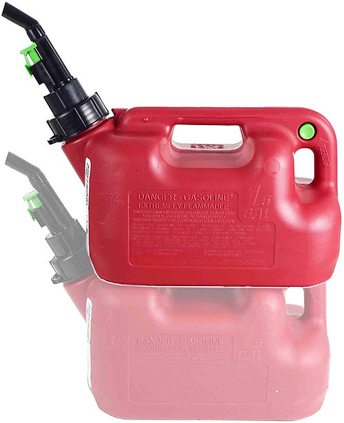 FUELWORX Red 1.5 Gallon Stackable Fast Pour Gas Fuel Cans CARB Compliant Made in